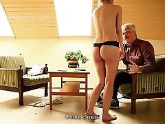 Teen blonde inspected