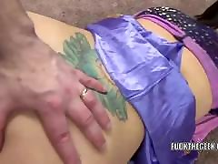 Horny buso sa jep Lavender Rayne in a costume and taking dick