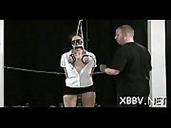 Complete amateur calza tube action along big meatballs woman