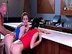 Hottie in crotchless pants gets nailed hard in leidy cock action