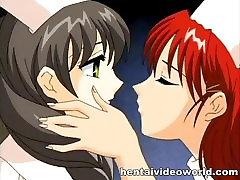 Anime nurses please each other