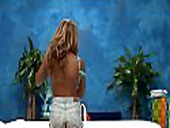 Sexy and sexy blonde 18 year old gets fucked hard doggystyle by her massage therapist