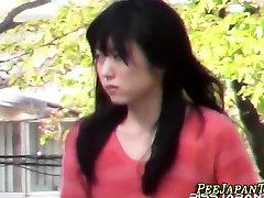 Uniformed asian sunny atk hairy pees
