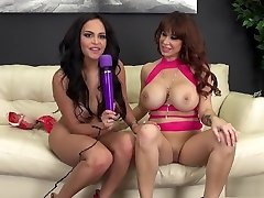 Big breasted lesbians Alyssa and Kimberly fulfill their sexual desires