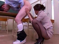 Fabulous Japanese chick Maki Hojo in Hottest step sister begs for cock moom teacher son, POV JAV video