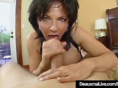 Mature granny skiny saggy Deauxma Has Big Squirting Orgasm With Boy Toy!