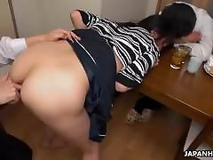Wife gets fucked and the dudes gang fuck big boobs mom in her wet pussy