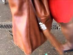 Shoe Fetish - Following Nigerian MILF in Very Pointy Flats
