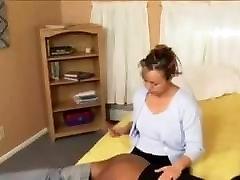 Skinny Negro maid spanked by white master
