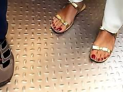 miif sexy big long feets, hot long big red toes