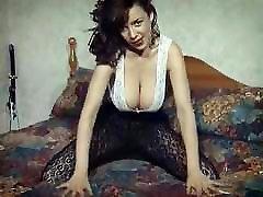 RUMBLED - vintage British huge boobs striptease hairy pussy
