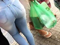 Cum on Ass Moreninha de Jeans 2