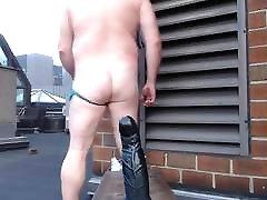 JoeyDs bubble butt Outdoor pale sexy ass man