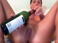 Amateur - Little Tits filipina mae Babe - Wine Bottle on Cam