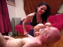 Sadistic cbt: femdom mangles dicklet with needles