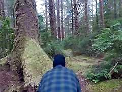 BBW Wife Flashing in the Forest and Public Nudity Squirting