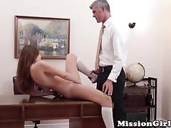 Untouched accra bbw pussy inspected by the most powerful Mormon