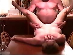 Mature mom son sex wrestle Fucked by Husbands Friend on Kitchen Table