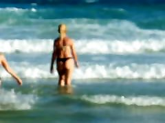Patrcia on the beach Joaquina surf - 2017