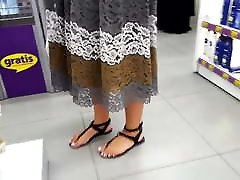 girl sexy feets french pedicured white toes