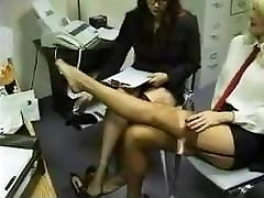 Office Stockings xxx nures Foot Massage