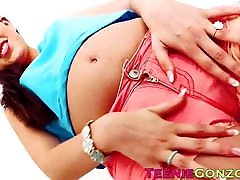 Tender tusky anal strips and bangs doggy style with a stud in POV