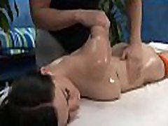 Sexy 18 year old playgirl gets fucked hard from behind by her massage therapist