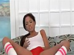 Wicked black angel is fond of getting her holes pounded
