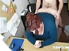 Chubby jaqi mchell Gets Her Hole Filled at the Office