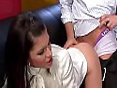 Clothed females share rods in severe xxx manners