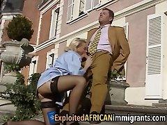 Vintage European interracial threesome korea sekretaris 1
