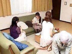 Amazing Japanese chick Natsume Inagawa, Nozomi Hara in Horny Cunnilingus JAV scene