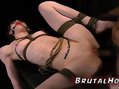 Kinky bondage threesome and bdsm punishment Sexy young girls