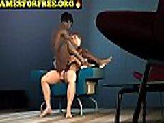 3D ebony hunk sucks and rides a cock - 3D FREE GAY GAME