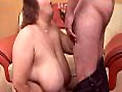 Heavy huge bus boobs sexy dong enters face hole of hot nasty plump