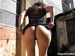 Amazing Big and Round Ass on White Latin Teen. Perfect Ass!