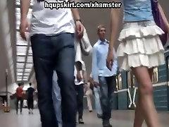 Sexy spy cam upskirts in public