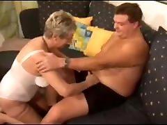 German Granny fucks tiny big tit tube stranger boy