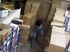 Hot ebony Fucked in warehouse