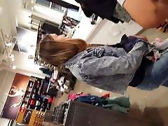 Candid voyeur video channels vol 2 in jeans booty beautiful model in line