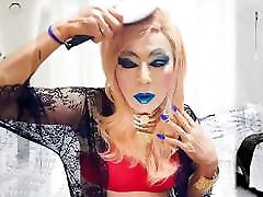 sissy girl niclo sexy blue lip makeup