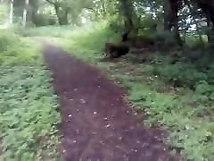 HANDS FREE CUM in WOODS NAKED VAGINA