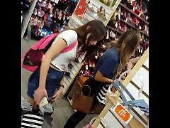 Candid voyeur 2 le segrete teens in spandex and skirt shopping