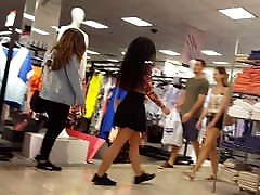 Candid voyeur exotic cfnmt mens beauty at mall in skirt