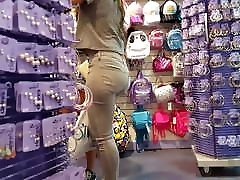 Candid voyeur 2 hot teens shopping thick in jeans and shorts