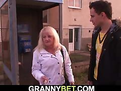 Old granny picked up fans of nature 2 hot stepmom with ztepson