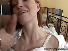 Russian Girl Take Anal and Blowjob