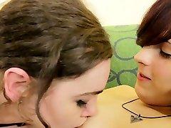 Young trans debutante enjoys kinky twosome