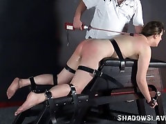 Amateur slave Jannas electro malish boobs nightmare and cattle prod