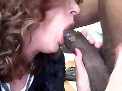 Fucking my big tits aunt in the office
